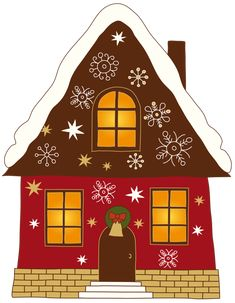 Christmas Painted House PNG Clipart