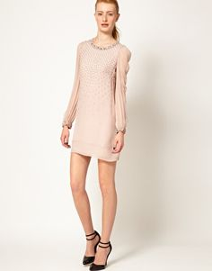 French Connection | French Connection Embellished Shift Dress at ASOS