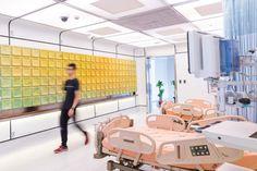 Miniwiz builds modular hospital ward prototype at Taipei hospital. Home Design, Mug Design, Diy Wall Decor, Bedroom Decor, Wall Panel Design, Modular Walls, Hospital Design, Inspiration Design, Acoustic Panels