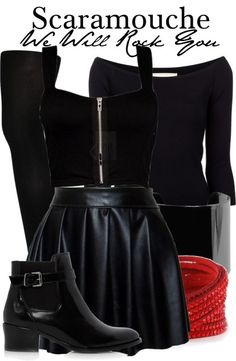 Scaramouche from We Will Rock You inspired outfit from The Broadway Wardrobe tumblr