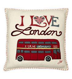 JAN CONSTANTINE London bus cushion