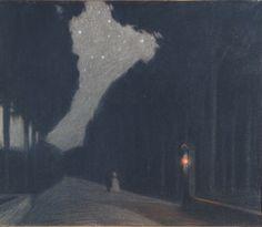 Domenico Baccarini (Italian, 1882-1907), Notte amorosa, 1903/1904. Pastel on paper.