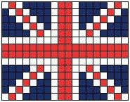 Hama beads bandiera