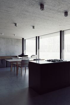 Exposed concrete ceiling/soffit