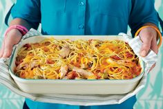 Chicken-Spaghetti Casserole (80s) - 50 Years of Southern Recipes - Southernliving. Casseroles are where you can see Southern ingenuity at its best, and the eighties had no shortage of inventive ideas. This particular Southern standard gave us all the warm and fuzzy memories we were craving.  Recipe: Chicken-Spaghetti Casserole