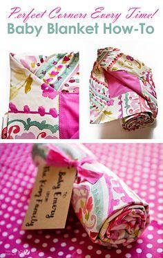 Perfect corners baby blanket