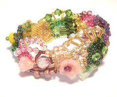 Freeform Peyote Bracelet #beadwork