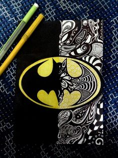 Batman Zentangle.: