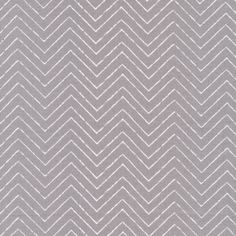 Organic Cotton Fabric/Cloud 9 Chevron Material/Gray and