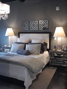 master bedroom design idea as seen on www like the glass bedside tables dream homes - Show Bedroom Designs