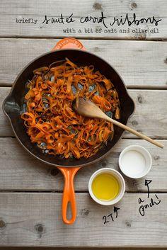 Spring Recipe: Carrot Ribbon Fettuccine