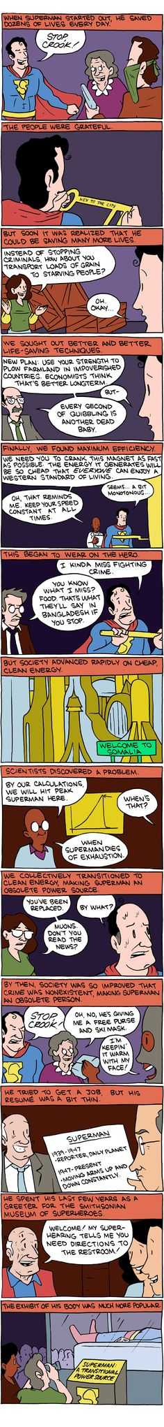 Superman as global source of electric power -- Saturday Morning Breakfast Cereal