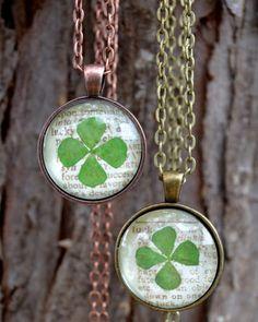 St. Patrick's Day Shamrock Pendant | AllFreeJewelryMaking.com