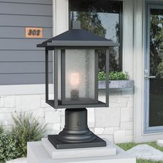 Looking for Hungate Outdoor Pier Mount Light Bloomsbury Market ? Check out our picks for the Hungate Outdoor Pier Mount Light Bloomsbury Market from the popular stores - all in one. Outdoor Pillar Lights, Outdoor Wall Lantern, Outdoor Wall Lighting, Outdoor Walls, Lamp Post Lights, Gas Lanterns, Lantern Post, Tudor Style, Glass Panels