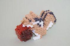 DIY 3D Squirrel perler beads - Photo tutorial