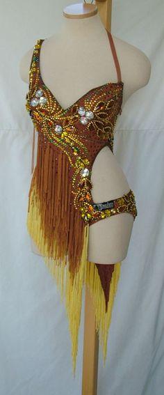Yellow salsa dance costume