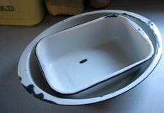 Set of Enamel Pans by GraceWillVintage on Etsy, $28.00