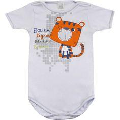 Body Bebê Menino Tigrinho Branco - Patimini :: 764 Kids | Roupa bebê e infantil