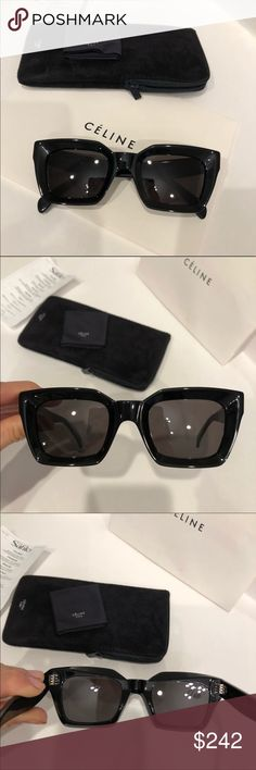87853d88bca3 Celine sunglasses 😎 Celine Kate black grey sunglasses New condition. 100%  authentic guaranteed Includes