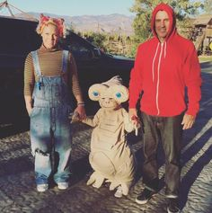 Looks like all treats and no tricks for P!nk and hubby Corey Hart, whose little one has on an adorable E.T. costume. #refinery29 http://www.refinery29.com/2015/10/96704/best-celebrity-halloween-costumes-2015#slide-10
