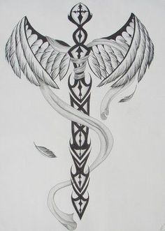 sword with wings tattoo * sword with wings tattoo . sword with wings tattoo tat . sword and wings tattoo . sword and wings tattoo design . angel wings and sword tattoo . sword wings tattoo back . angel wings with sword tattoo . Back Tattoos, Forearm Tattoos, Future Tattoos, Body Art Tattoos, Tattoo Drawings, Tattoos For Guys, Ems Tattoos, Wing Tattoo Designs, Tattoo Sleeve Designs