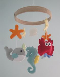 Baby Mobile  Baby Crib Mobile  Under the Sea by LoveAllDesigns, $85.00