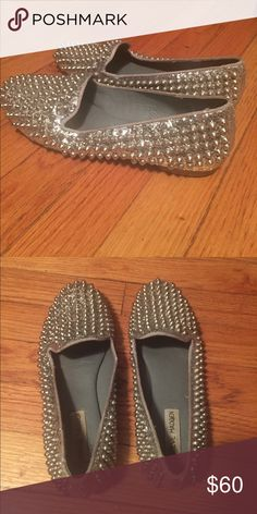 Studded Steve Madden loafers Good condition, worn a few times. Box not included Steve Madden Shoes Flats & Loafers