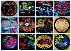 Drainspotting by Remo Camerota: Fascinating images of manhole covers in Japan. Here is a link to his book tinyurl.com/7o72yzy #Manhole_Covers #Drainspotting #Remo_Camerota