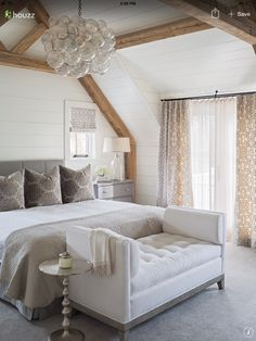 Really love the lounge at the end of the bed with the table alongside