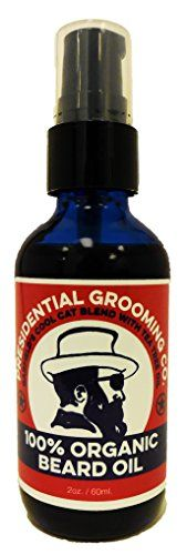 100 Organic Premium BEARD AND SHAVE OIL 2 Ounce Treatment Pump Bottle President Garfields Tea Tree Smoothest Shave Strengthen Shine Soften Condition and Protect Beard and Skin -- For more information, visit image link.
