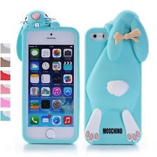 3D shock absorption cartoon Cute rabbit silicone snap-On Case for iPhone 5/5S