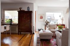 vintage armoire makes the space