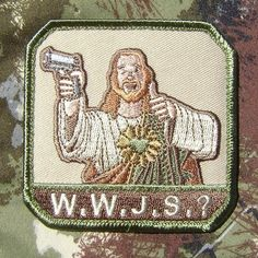 What Would Jesus Shoot WWJS Army Miltary Milspec Morale Velcro Patch Multicam | eBay