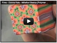 Fimo - Donna Kato - Millefiori Basics (Polymer Clay) 45 minutes Fimo -Donna -Kato - Donna Kato -Millefiori - Basics -Millefiori Basics -Polymer Clay - Clay - Polymer - She has experience more than 10 years in this career Polymer Clay Kunst, Polymer Clay Canes, Polymer Clay Flowers, Fimo Clay, Polymer Clay Projects, Polymer Clay Creations, Polymer Clay Jewelry, Biscuit, Play Clay