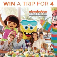 Sears Canada Contests ~ WIN 1 of 3 great prizes from Sears and Fisher-Price PLUS win a trip for 4 to Punta Cana Nickelodeon Hotel, Contests Canada, Win A Trip, Punta Cana, Hotels And Resorts, Dominican Republic, Fisher Price, Vacations, Group