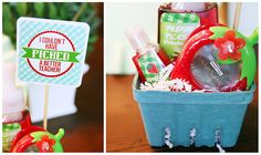 love these strawberry basket teacher gifts with free printable!
