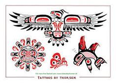 Interest tattoo ideas and design - Pacific Northwest Native American Totem Tattoo Design Photo - If you want to make a tattoo, look how it looks from other people! Native American Totem, Native American Symbols, Native American Design, American Indian Art, Totem Pole Art, Le Totem, Totem Poles, Haida Tattoo, Totem Tattoo