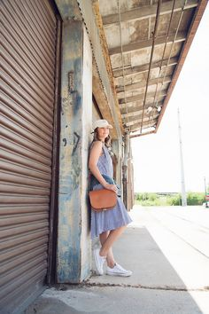 Caroline styles a Hunter Bell NYC dress for a casual day << HOUSE  of HARPER