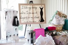 Carrie Bradshaw quote printed out on canvas for the Bride To Be to keep :)