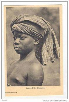 Belge Congo, Jeune Fille Haoussa girl (topless) , 00-10s