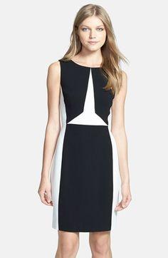 Ivanka Trump Colorblock Sheath Dress | Nordstrom