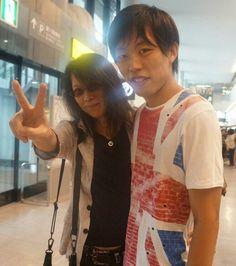 Heath and a fan. X Japan