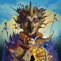 Surrealism and Visionary art: Gil Bruvel Magic Realism, Visionary Art, Illustrations, Japanese Artists, Fantastic Art, Psychedelic Art, Art History, Digital Art, Lion Sculpture