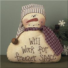 Freezer Space Decorative Snowman