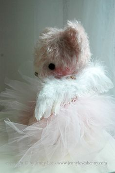 I love embellishing Teddies...simple joy to give a child or to sell... We all need the innocent reminders of the child inside of all of us... Nourish and love that child... Keep a Teddy at your home !