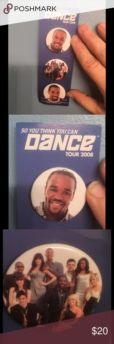 30% BUNDLES 💥💥So You Think You Can Dance pin set 🔵 Cool set of pins from the 2008 season of SO YOU THINK YOU CAN DANCE. JOSHUA won but TWITCH came in close second. These are from the tour. They come still on the paper card they were bought on. Great collectible. Jewelry Brooches