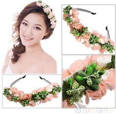 Flower girl headpiece with pearl jewelry as well