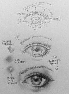 Drawing Portraits - How to draw an eye This is probably the best way to explain it to a newbie - Discover The Secrets Of Drawing Realistic Pencil Portraits.Let Me Show You How You Too Can Draw Realistic Pencil Portraits With My Truly Step-by-Step Guide. Realistic Drawings, Cool Drawings, Drawing Sketches, Pencil Drawings, Drawing Faces, Eye Sketch, Pencil Art, Manga Drawing, Horse Drawings