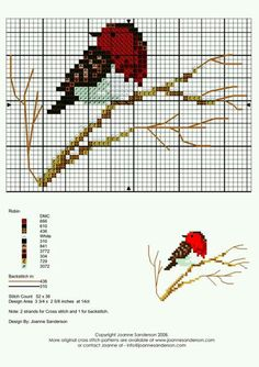 ♥ My point Graphs Cruz ♥: Colorful Birdies in Cross Stitch