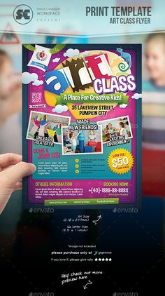 Art Class Flyer by shamcanggih Flyer templates designed exclusively for art class, event, summer camp, school activities, community day or any of use. Flyer Design Inspiration, Flyer Layout, Brochure Layout, Event Flyer Templates, Flyer Design Templates, Letter Templates, Print Templates, Yoga For Kids, Art For Kids